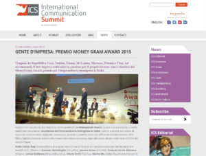 Gente d'Impresa: Premio Money Gram Award 2015